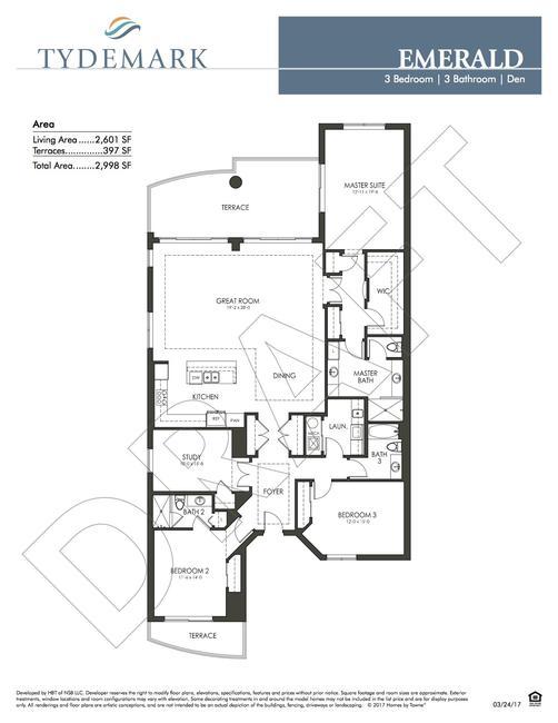 Emerald floor plan — view layout below