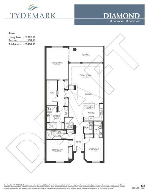 Diamond floor plan — view layout below