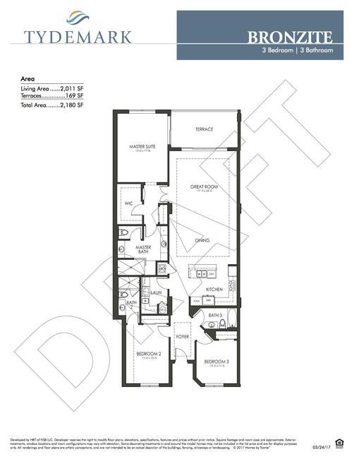Bronzite floor plan — view layout below