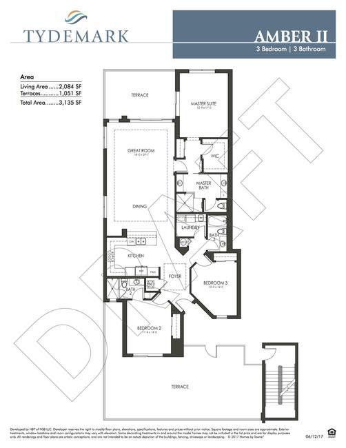 Amber II floor plan — view layout below