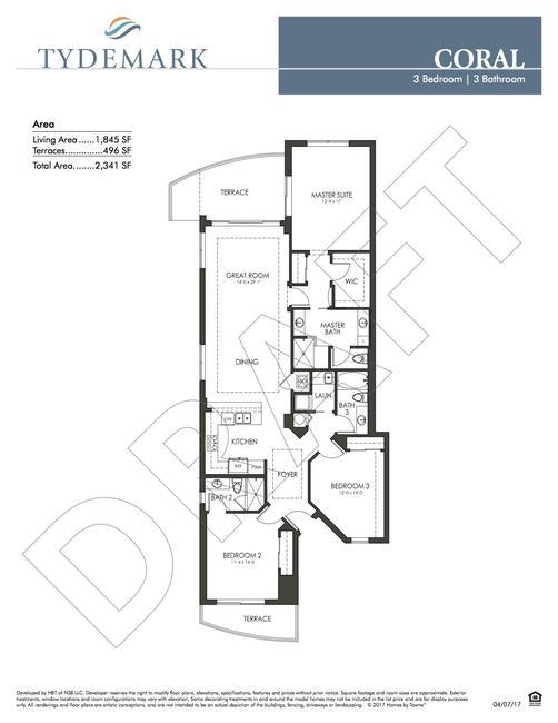Coral floor plan — view layout below