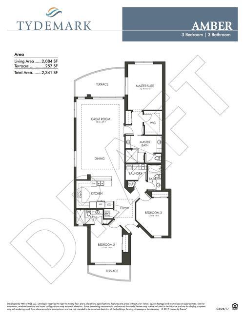 Amber floor plan — view layout below